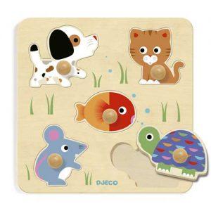 Puzzle de madera botón Bulle y Co de Djeco