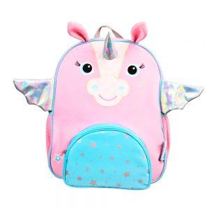 Mochila con forma de unicornio de la marca Zoocchini