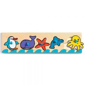 Puzzle de madera Animales del mar de Djeco